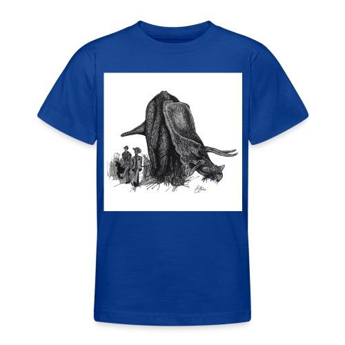 Walking the Triceratops 28 x 28 jpg - Teenage T-Shirt