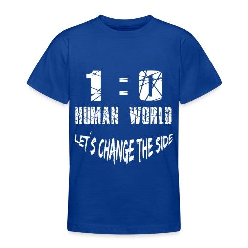 Human VS World Mensch gegen Welt - Teenager T-Shirt