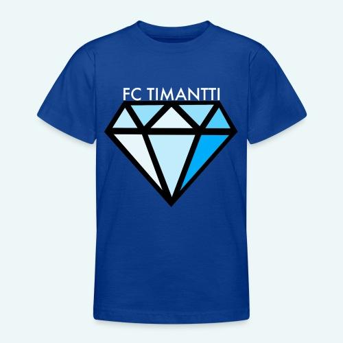 FCTimantti logo valkteksti futura - Nuorten t-paita