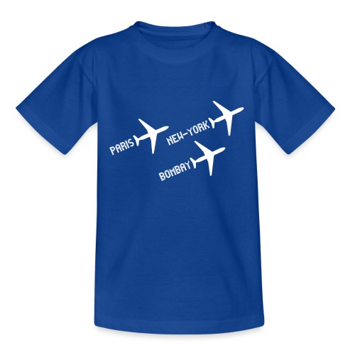 3 voyages avion white - T-shirt Ado