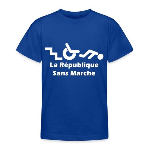 La République Sans Marche - Blanc - T-shirt Ado