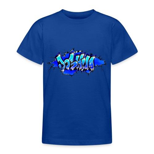 GRAFFITI JOSHUA WALL BROKEN BLUE - T-shirt Ado
