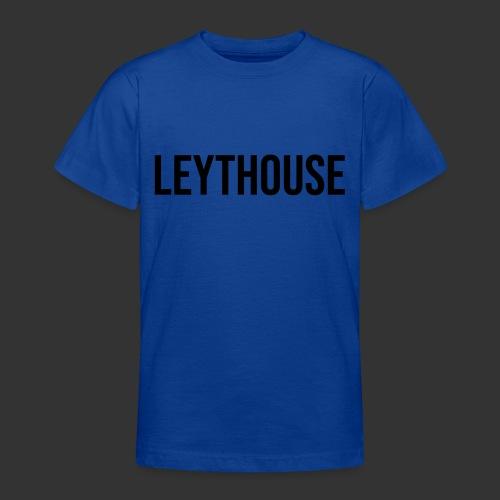 LEYTHOUSE main logo black - Teenage T-Shirt