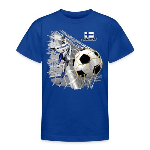 FINLAND FOOTBALL SOCCER PLAY T SHIRTS, GIFTS etc. - Nuorten t-paita