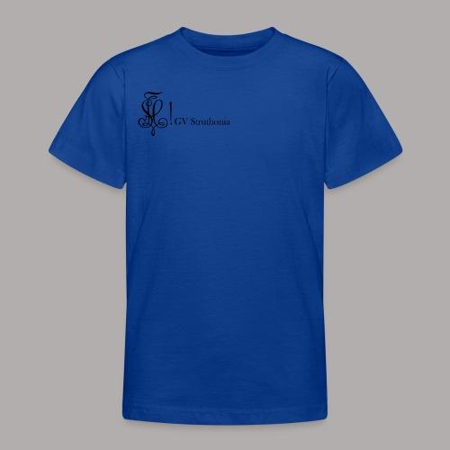 Zirkel mit Name, schwarz (vorne) - Teenager T-Shirt