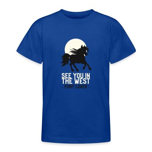 Silhouet pony design voor ponyliefhebbers - Teenager T-shirt
