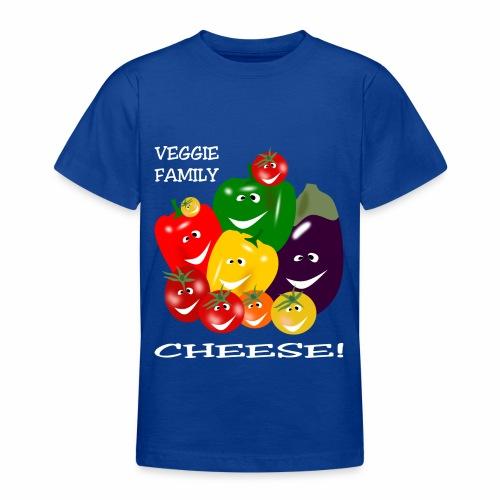 Veggie Family - Cheese! - Teenage T-Shirt