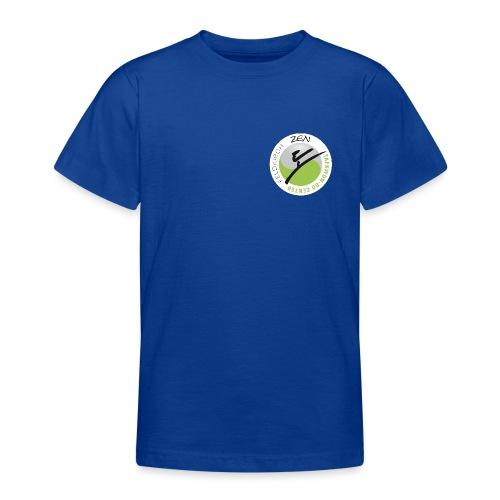 logo rund weiss mit rand - Teenager T-Shirt