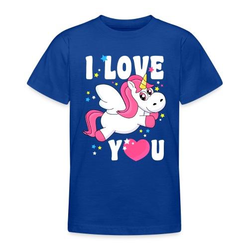 I love You Einhorn - Teenager T-Shirt