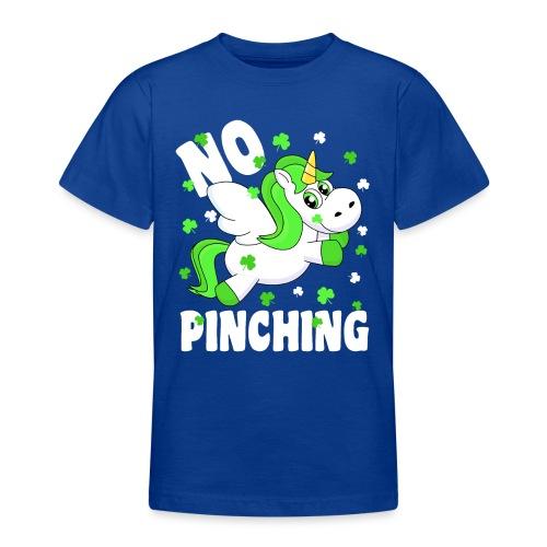 St. Patricks Day No Pinching Unicorn - Teenager T-Shirt