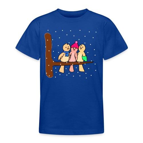 Voeglein im Winter - Teenager T-Shirt