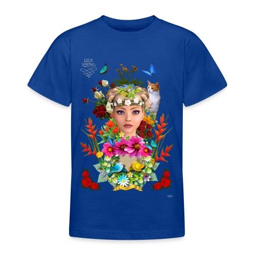 Lady spring by t-shirt chic et choc (dark & black) - T-shirt Ado