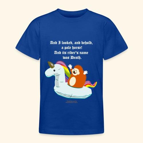 Geek T Shirt Igel, Einhorn & Johannes-Offenbarung - Teenager T-Shirt