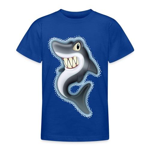 Cartoon Shark - Teenage T-Shirt
