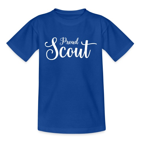 Proud Scout Lettering White - Teenager T-Shirt