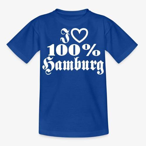 I love 100% Hamburg 1c / Herz - Teenager T-Shirt
