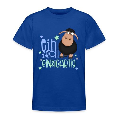 Einfach einzigartig: schwarzes Schaf kleines Schaf - Teenager T-Shirt