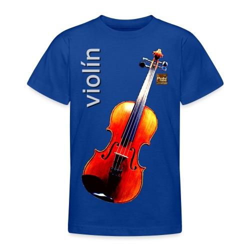 Violín - Camiseta adolescente