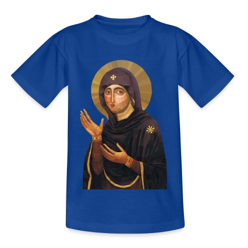 Virgin Mary Icon - Advocata Nostra - Teenage T-Shirt