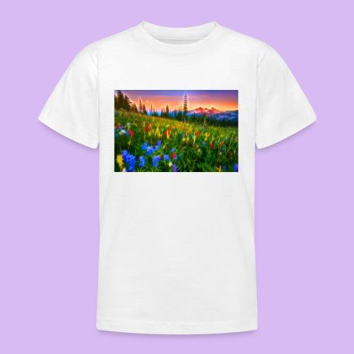 Bagliori in montagna - Maglietta per ragazzi