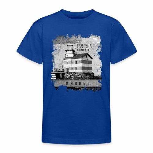 Märket majakkatuotteet, Finland Lighthouse, Harmaa - Nuorten t-paita
