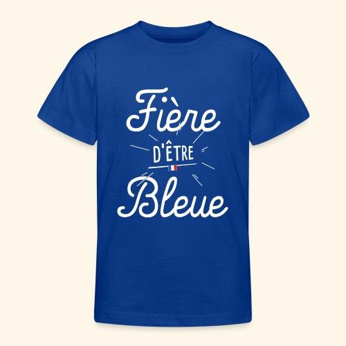 Footballeuse Coupe du monde Fière d'être bleue - T-shirt Ado