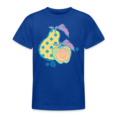 15peer appel blauw geel - Teenager T-shirt