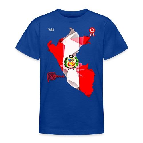 Mapa del Peru, Bandera y Escarapela - Teenage T-Shirt