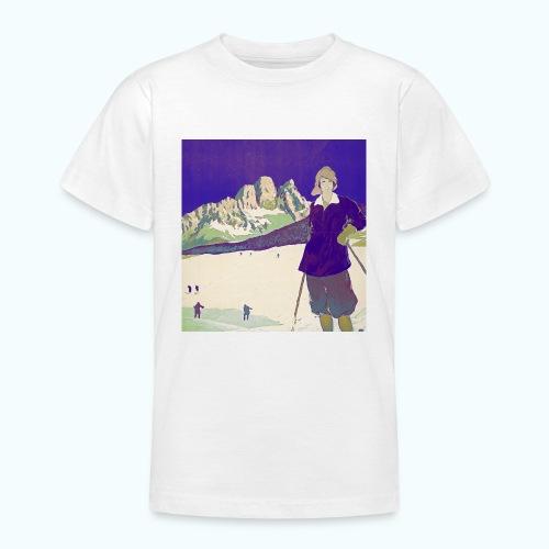 Ski trip vintage poster - Teenage T-Shirt
