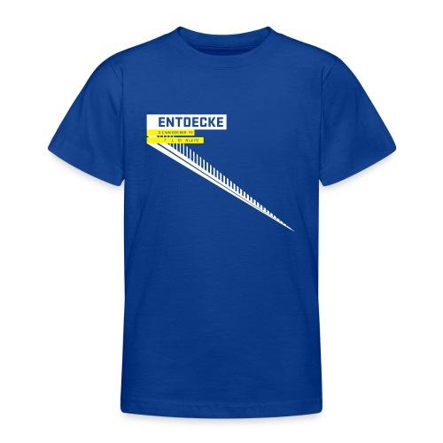 typobalken entdecke wei - Teenage T-Shirt