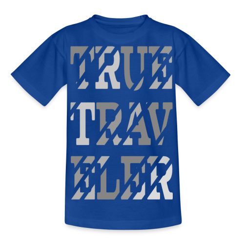 True Traveler Grey design - Nuorten t-paita