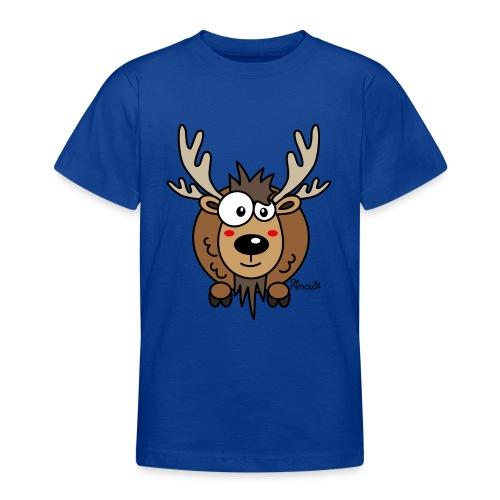 Renne Joyeux Noël Happy Christmas Hiver Drôle - T-shirt Ado