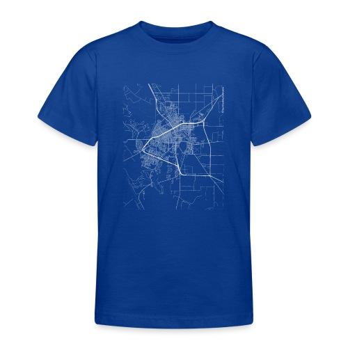 Minimal San Angelo city map and streets - Teenage T-Shirt