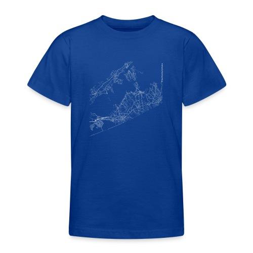 Minimal The Hamptons city map and streets - Teenage T-Shirt