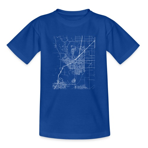 Minimal Vacaville city map and streets - Teenage T-Shirt