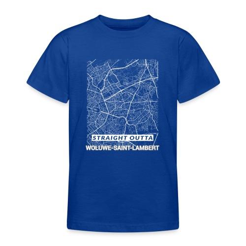 Straight Outta Woluwe-Saint-Lambert city map - Teenage T-Shirt