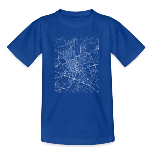 Minimal Ghent city map and streets - Teenage T-Shirt