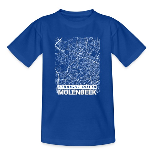 Straight Outta Molenbeek city map and streets - Teenage T-Shirt
