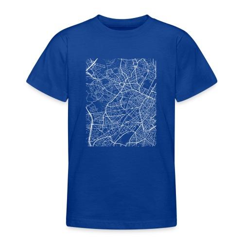Minimal Molenbeek city map and streets - Teenage T-Shirt
