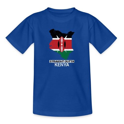 Straight Outta Kenya country map & flag - Teenage T-Shirt