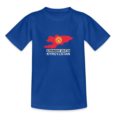 Straight Outta Kyrgyzstan country map - Teenage T-Shirt