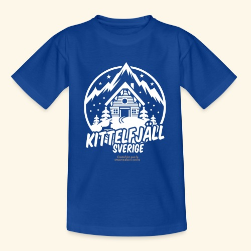 Kittelfjäll Ski Resort T Shirt Design - Teenager T-Shirt