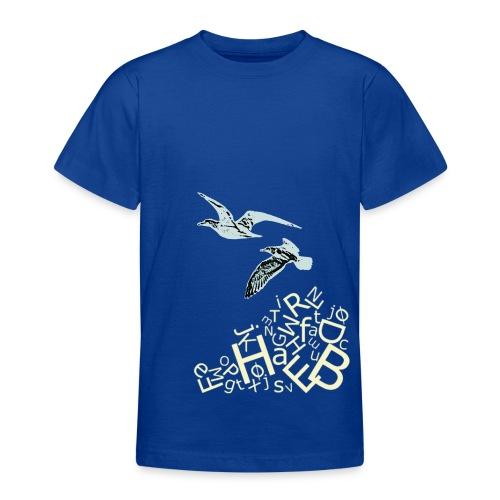 bogstavbunke gul - Teenage T-Shirt