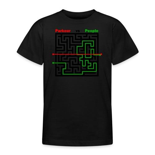 Parkour Maze parkour vs people - Teenager-T-shirt