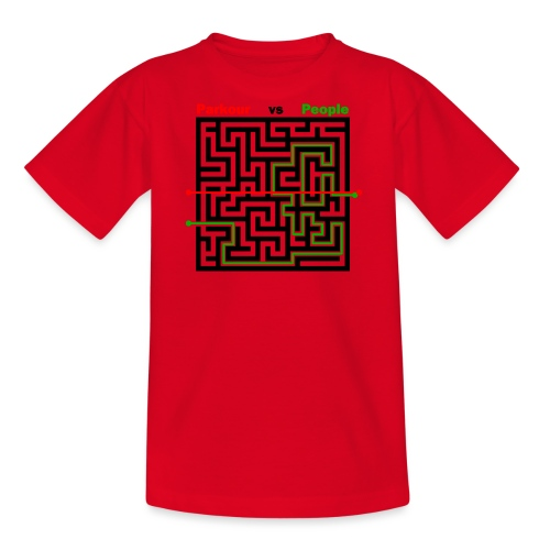 Parkour Maze parkour vs people - Teenager-T-shirt