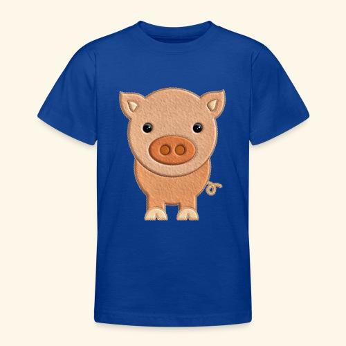 Cerdito de peluche Pig Cerdo - Camiseta adolescente