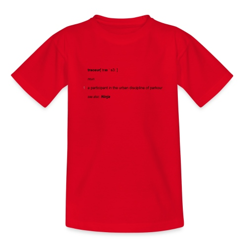 Traceur dictionary see also ninja - Teenager-T-shirt