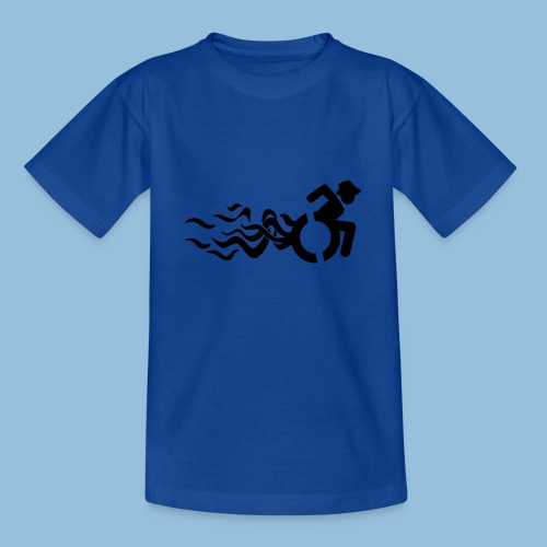 Wheelchair with flames 013 - Teenager T-shirt