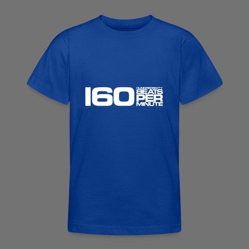 160 BPM (hvid lang) - Teenager-T-shirt