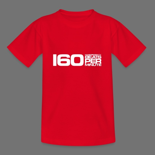 160 BPM (valkoinen pitkä) - Nuorten t-paita